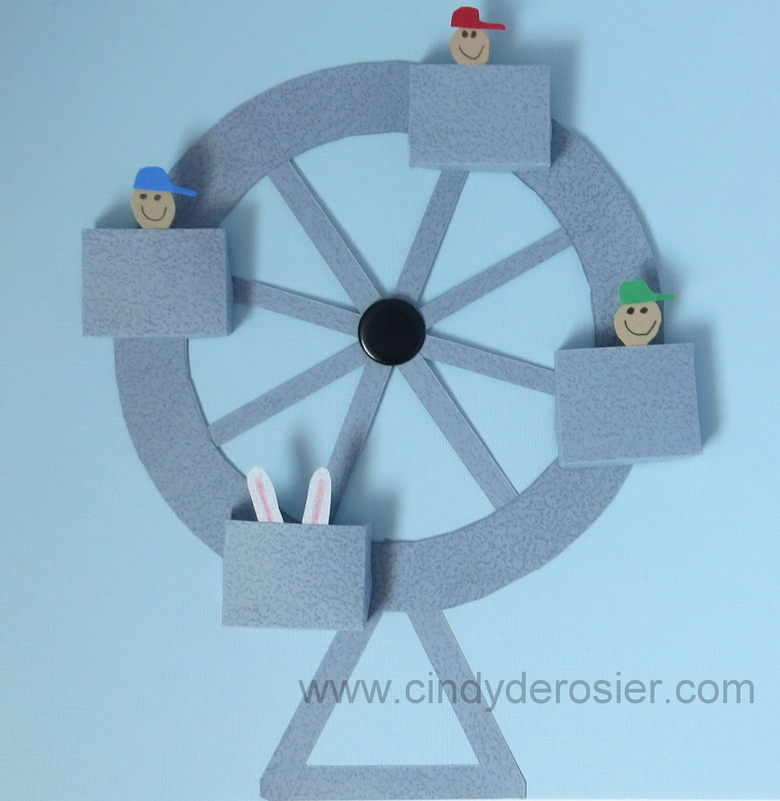 Working paper ferris wheel ferris wheel wheels and crafts create a ferris wheel out of paper that actually turns fill the seats with passengers jeuxipadfo Image collections