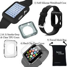 Apple Watch 38mm Accessory Bundle - TPU Case Hard Case Cover Sports Band Case : Want more? https://bitly.com/showmemorepls