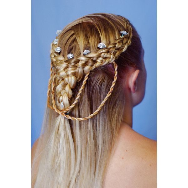 Festivals: Art, Music and Renaissance « Bella Braids ❤ liked on Polyvore featuring accessories, hair accessories, hair, fantasy and hair styles