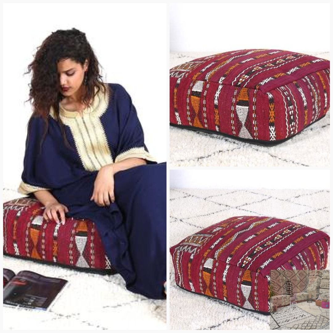 Large Floor Cushion Kilim Pillow Decorative Pillows Footstool