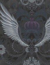 Gloockler Imperial By Marburg Wallcoverings Tapete Wings Schwarz Silber Nr