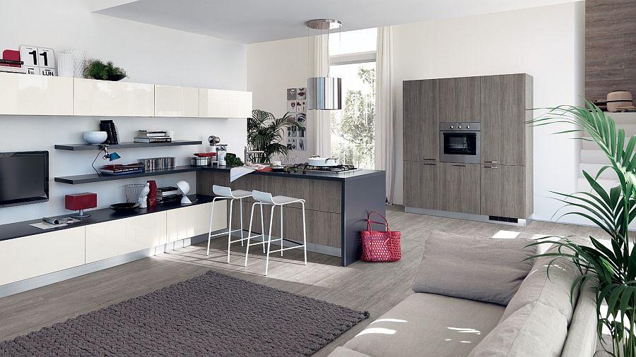 Modern Kitchen Looks sleek modern kitchen looks like a posh contemporary office