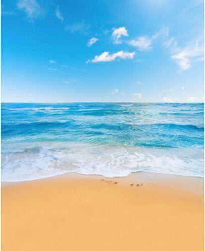 Vinyl Blue Ocean And Sky Beach Backdrops Theme Kids Photography