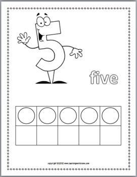 Ten Frame Activities Printables Coloring Book Numbers 0 10 Ma8hmatika Grammata Paidia