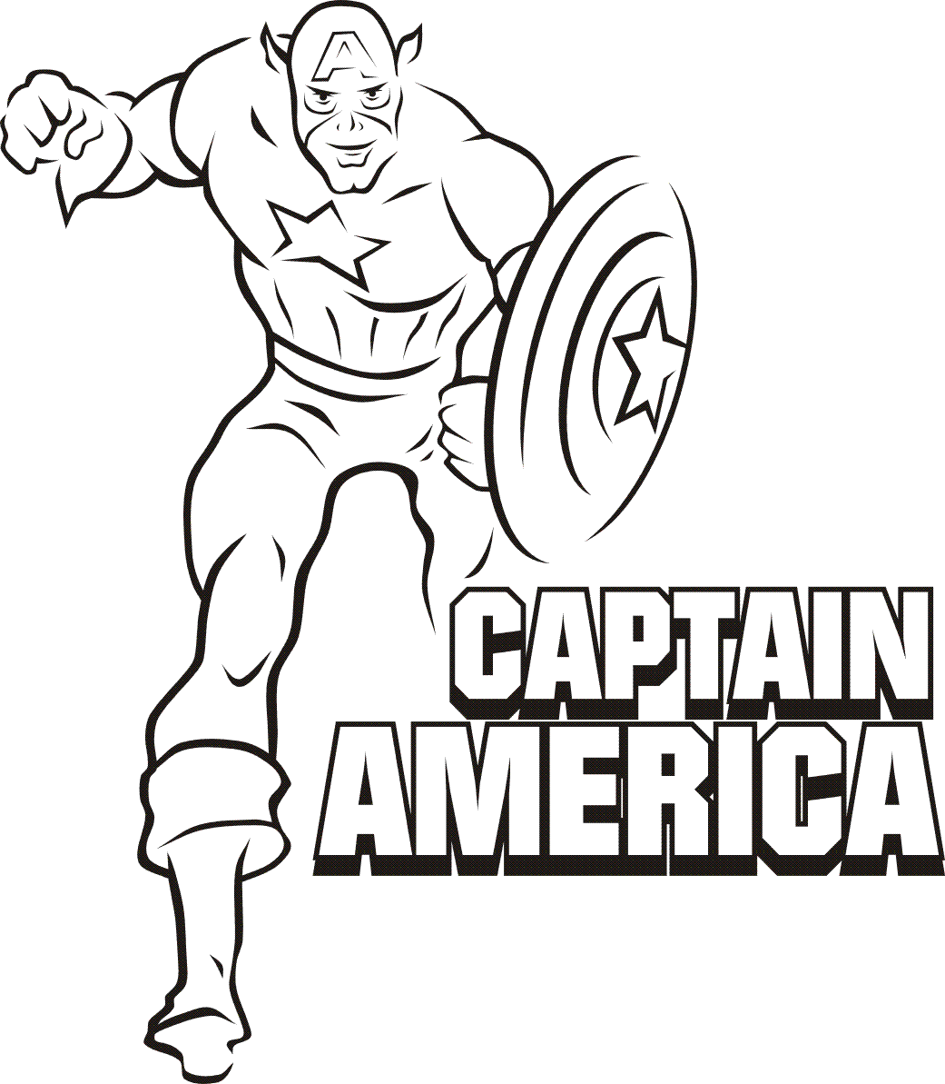 Captain America Coloring Pages Coloring pages superheroes