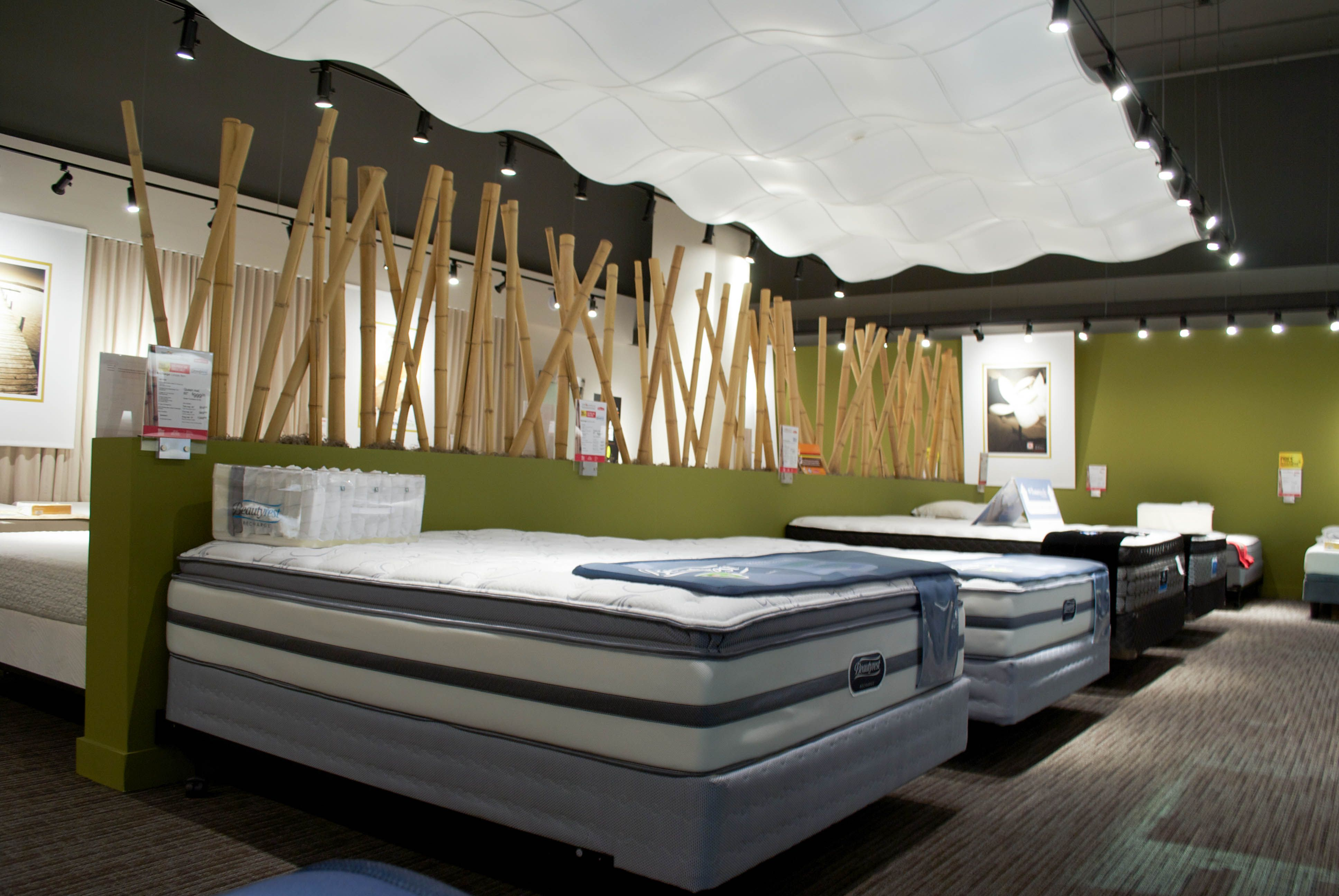 from our march 2014 show room our relaxing mattress section ahs