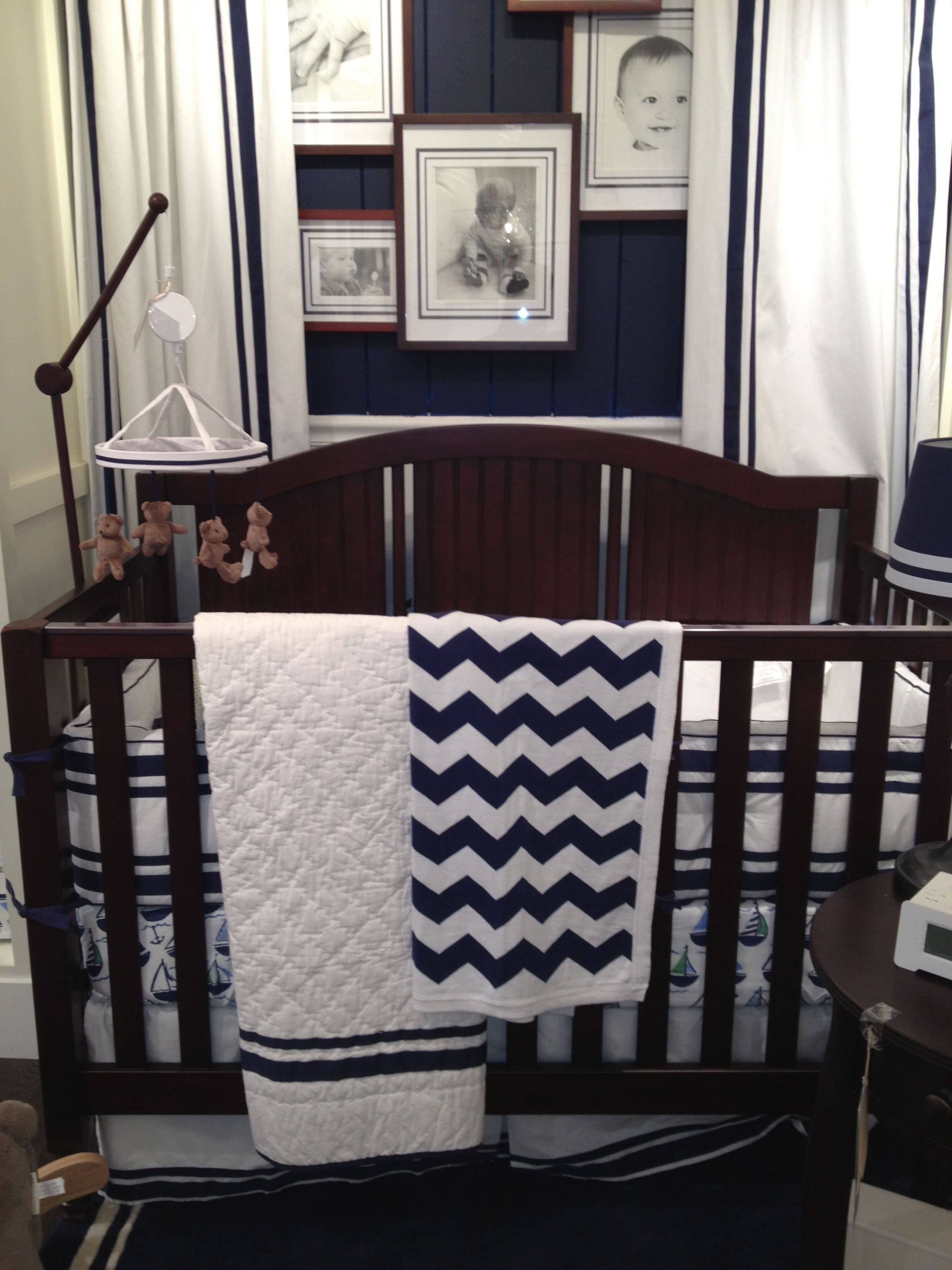 Pottery barn navy Harper nursery. Debating on these window