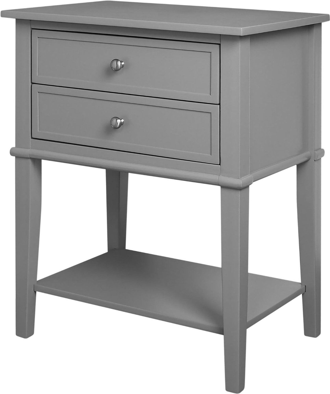 $104.10 Amazon.com: Altra Franklin Accent Table With 2 Drawers, Gray:  Kitchen