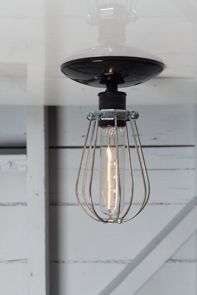 industrial modern lighting wire cage light ceiling mount rh pinterest com