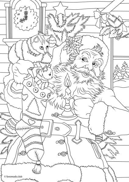 color fun and creative holiday coloring pages featuring santa christmas presents and decorations winter scenes and so much more