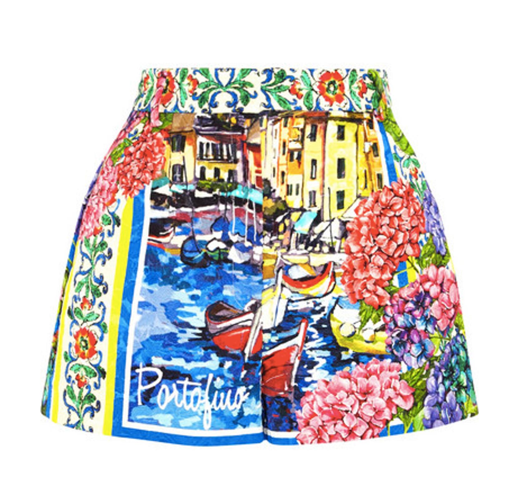 Portofino printed brocade shorts n from Dolce & Gabbana | PS Dept.