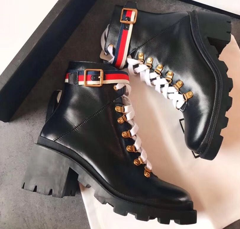 c8a334413 Gucci Leather Ankle Boots Black With Sylvie Web 481156 2017 | gucci ...