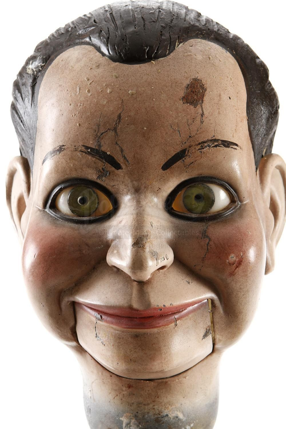 Ventriloquist doll headi can see the evilness in his creepy