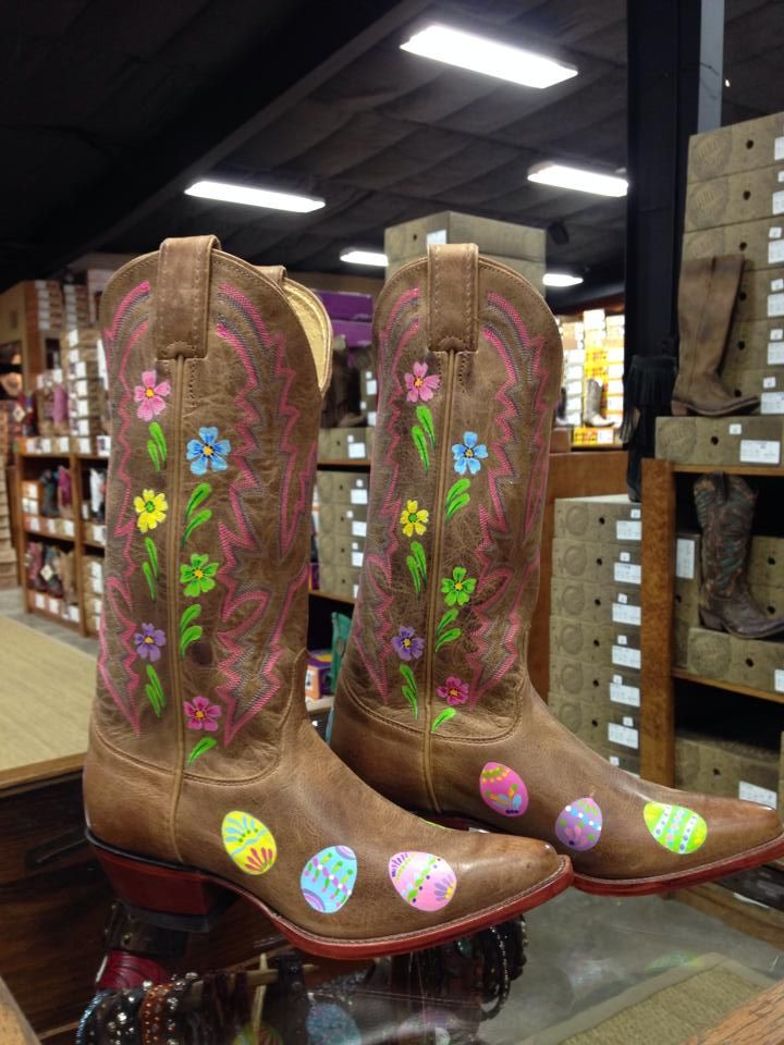 dd1f873544b New Seasonal Custom Boots -- Hand Painted Easter Boots! One of a ...