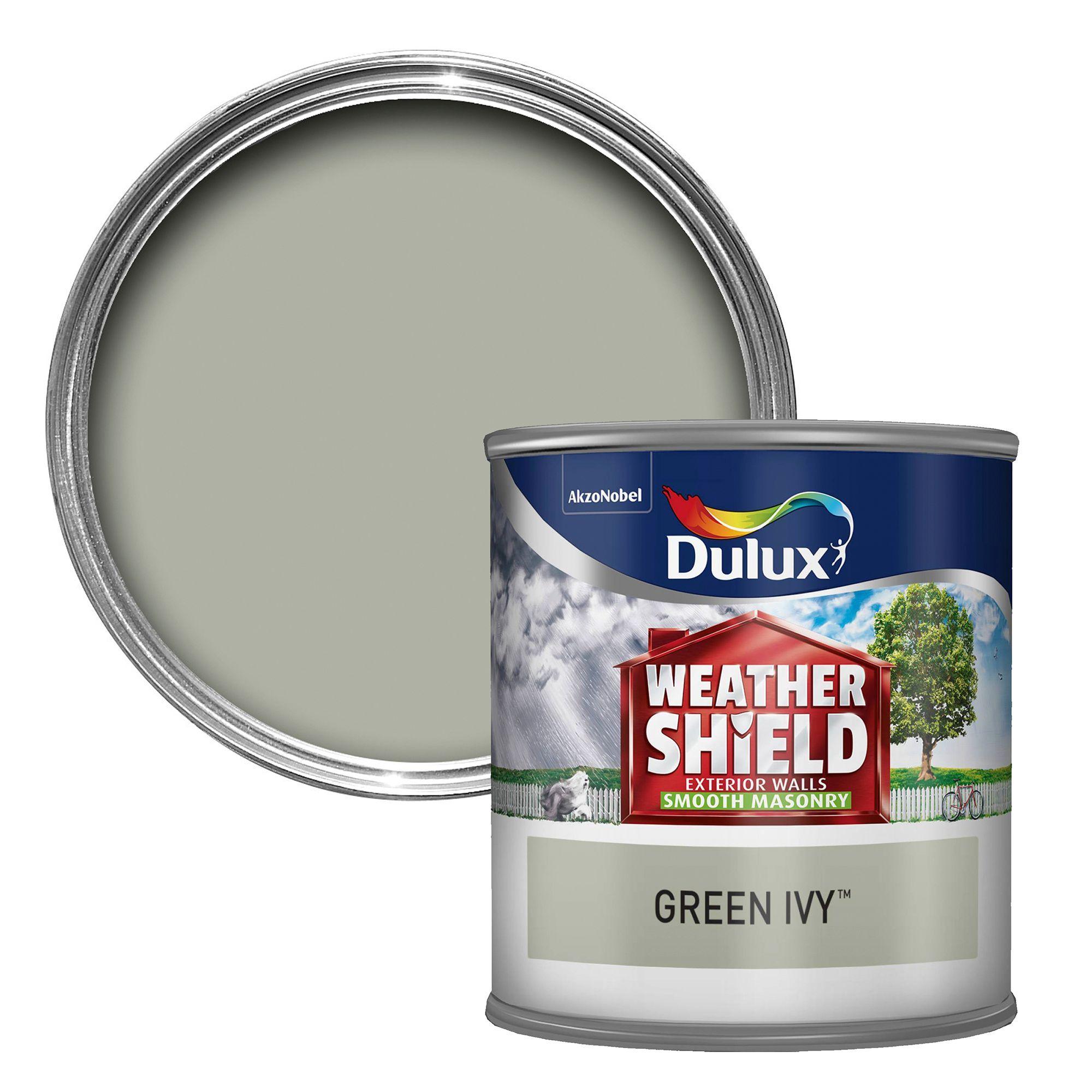Dulux Weathershield Green Ivy Matt Masonry Paint 250ml Tester Pot Departments Diy At B Q