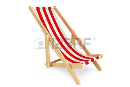 beach chair: 3d beach chair on a white background