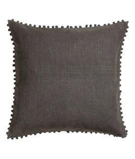Cushion Cover With Pompom Trim H M Us Kissen Kissenbezug Nahen H M Mode