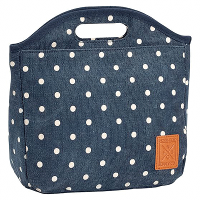 For ages 8-12  PB Teen Northfield Navy Dot Lunch Tote Cool Lunch Bags 355790a2364