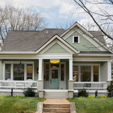 1 1 2 story front gable house design ideas pictures remodel and decor porch pinterest - Two story gable roof houses ...
