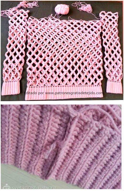 Cómo armar sueter crochet | Crochet | Pinterest | Suéteres ...