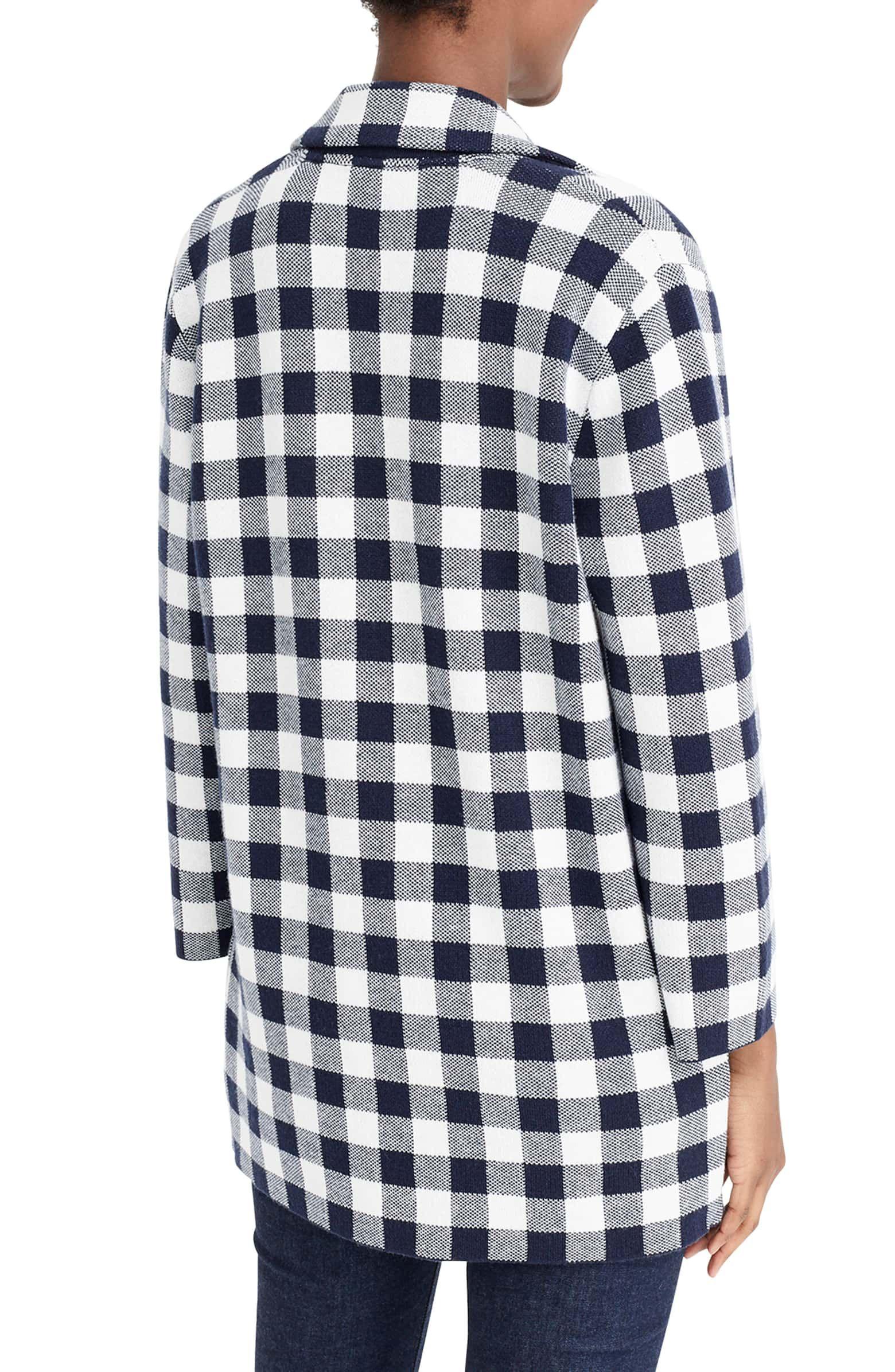 8a924ad3 J.Crew Sophie Gingham Sweater Blazer | Nordstrom | Wishlist: Clothing