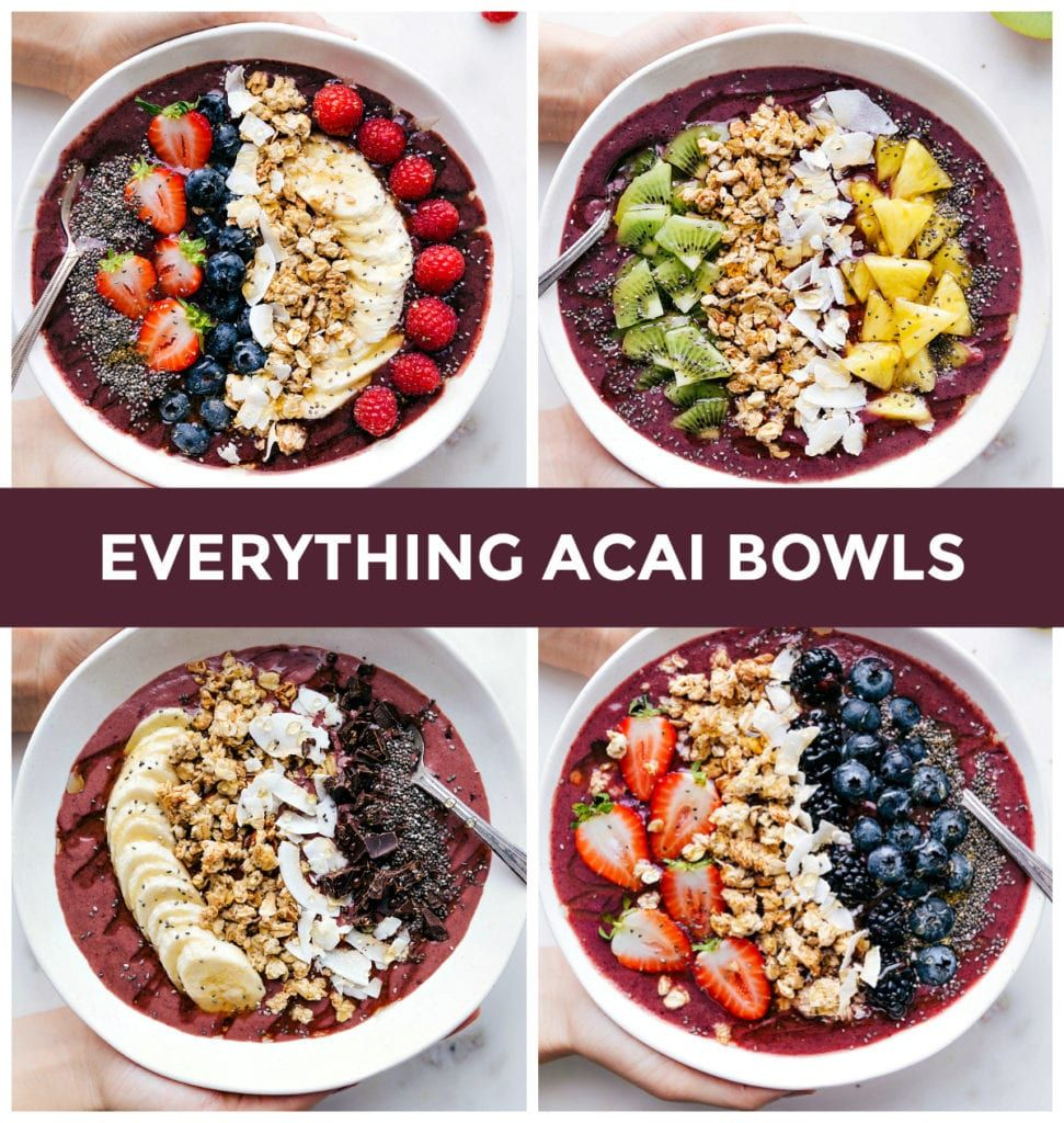 Everything You Need To Know About Making Your Own Acai Bowl From Home With Four Acai Bowl Recipes Produc Bowl Recipes Easy Acai Bowl Recipe Easy Acai Recipes