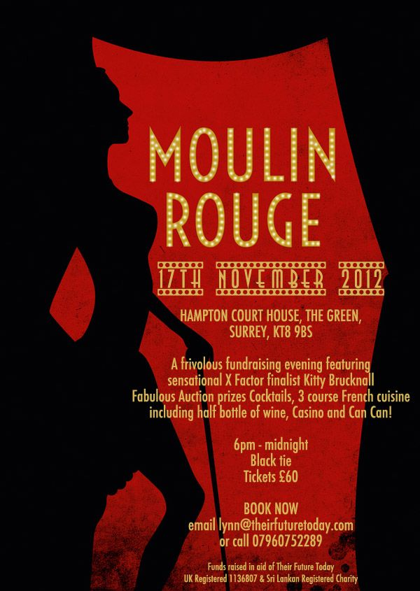 moulin rouge invitation bachelorette ideas Pinterest Moulin