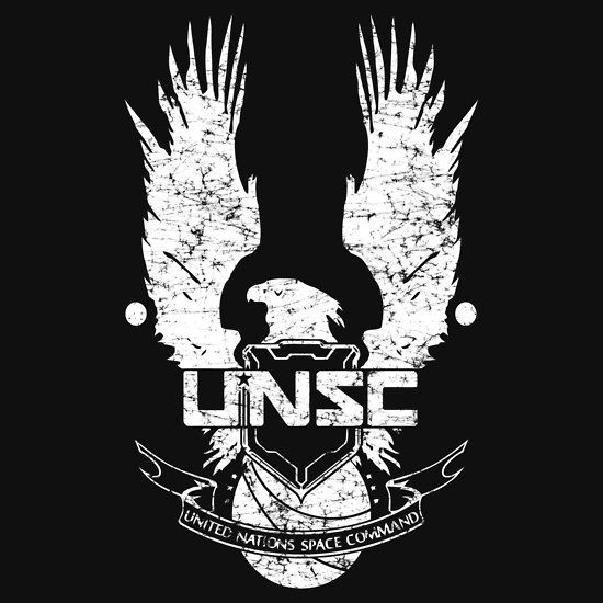 unsc logo halo 4 grunt distressed look unisex t shirt halo