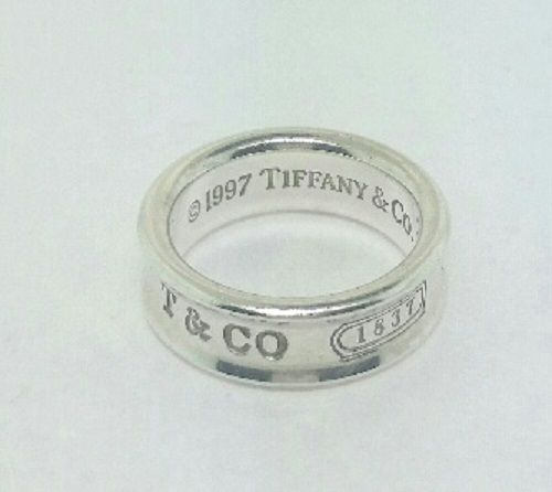 a902d91778e31 Authentic Vintage Tiffany   Co medium T CO 1837 925 7mm wide ring band sz 6  1 2  TiffanyCo  band  ring www.treasurestoseek.com