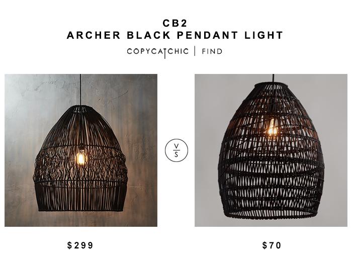 Cb2 Archer Black Pendant Laight For 299 Vs World Market Black