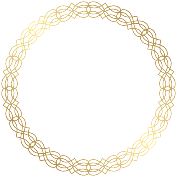 Round Gold Border Transparent PNG Clip Art Image