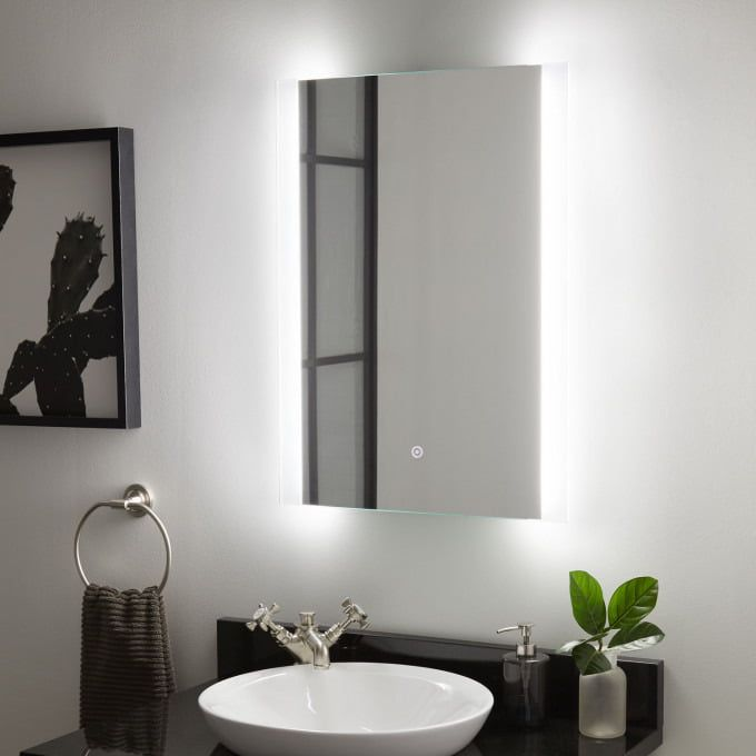 Noyce LED Lighted Mirror - LED-Lighted Vanity Mirrors ...