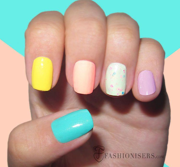 20 Fun Summer Nail Art Designs | Summer nail art and Nail nail