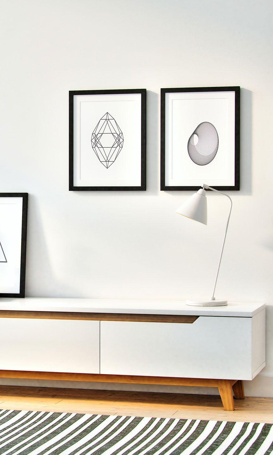 Mikkel Tv Stand Living Room Entertainment Mid Century Furniture Design