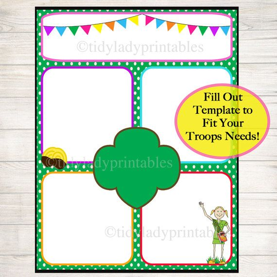 Girl Scouts Newsletter Template Instant By Tidyladyprintables