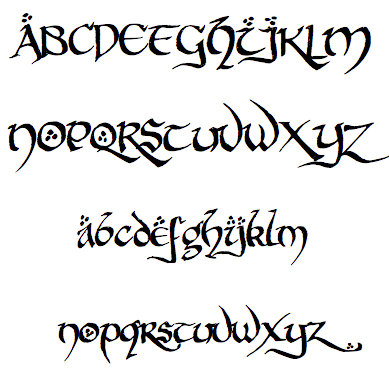 hobbiton-brush-hand-font-the-hobbit and other fonts for elvish and ...