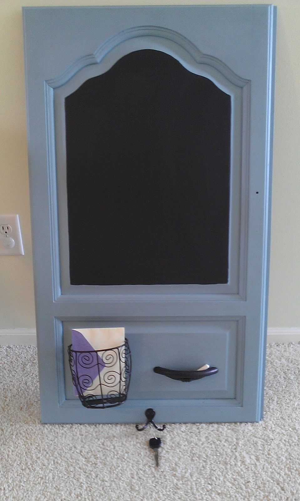 Thrifty Treasures: Message center from cabinet door | Rvs | Pinterest