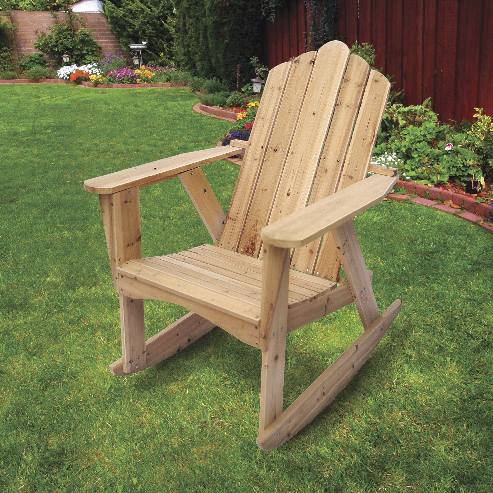 Stonegate Designs Wooden Adirondack Rocking Chair Model ...
