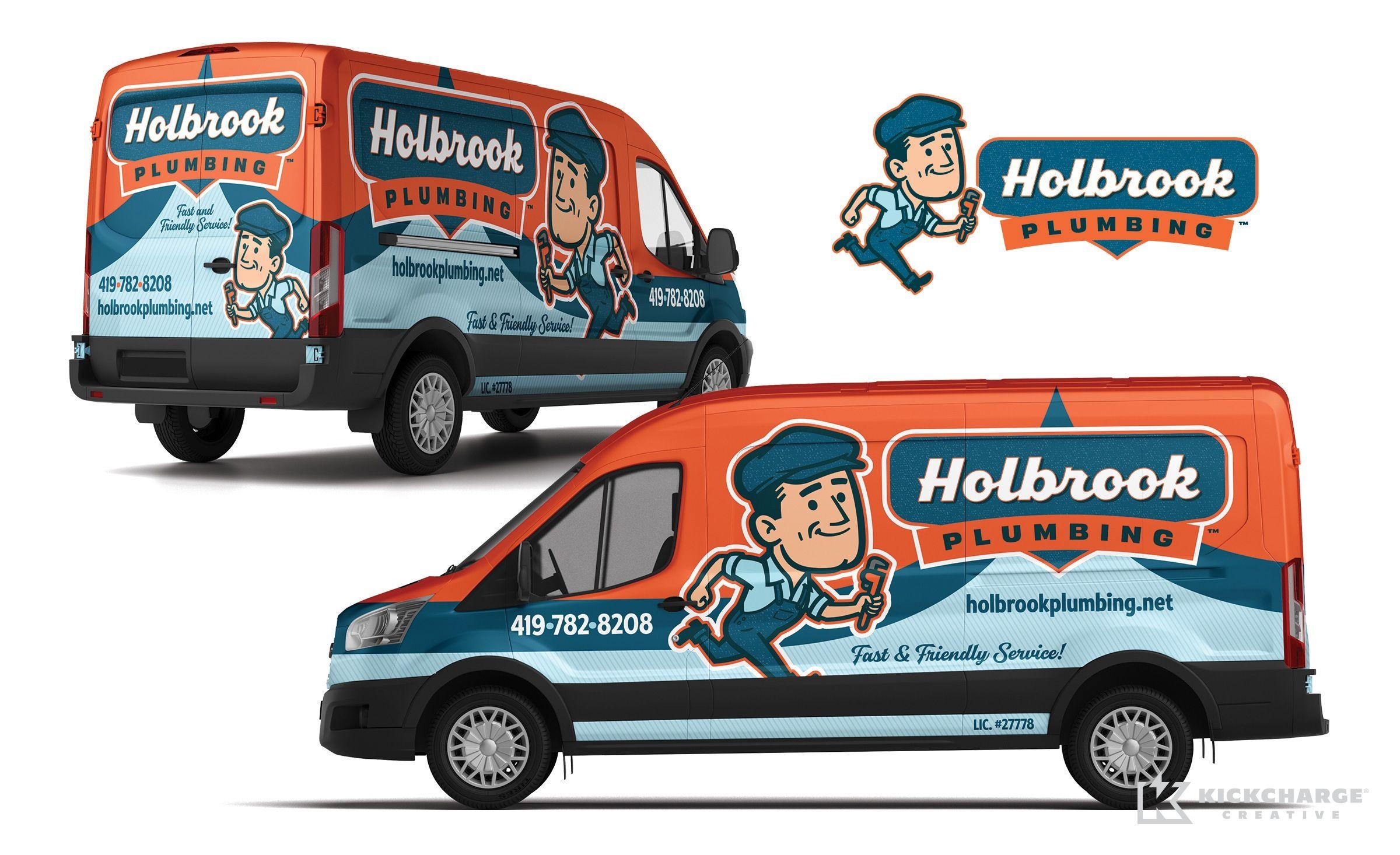 Large Custom Vinyl Van Decal Plumbers Van lettering Plumbers Van Sign