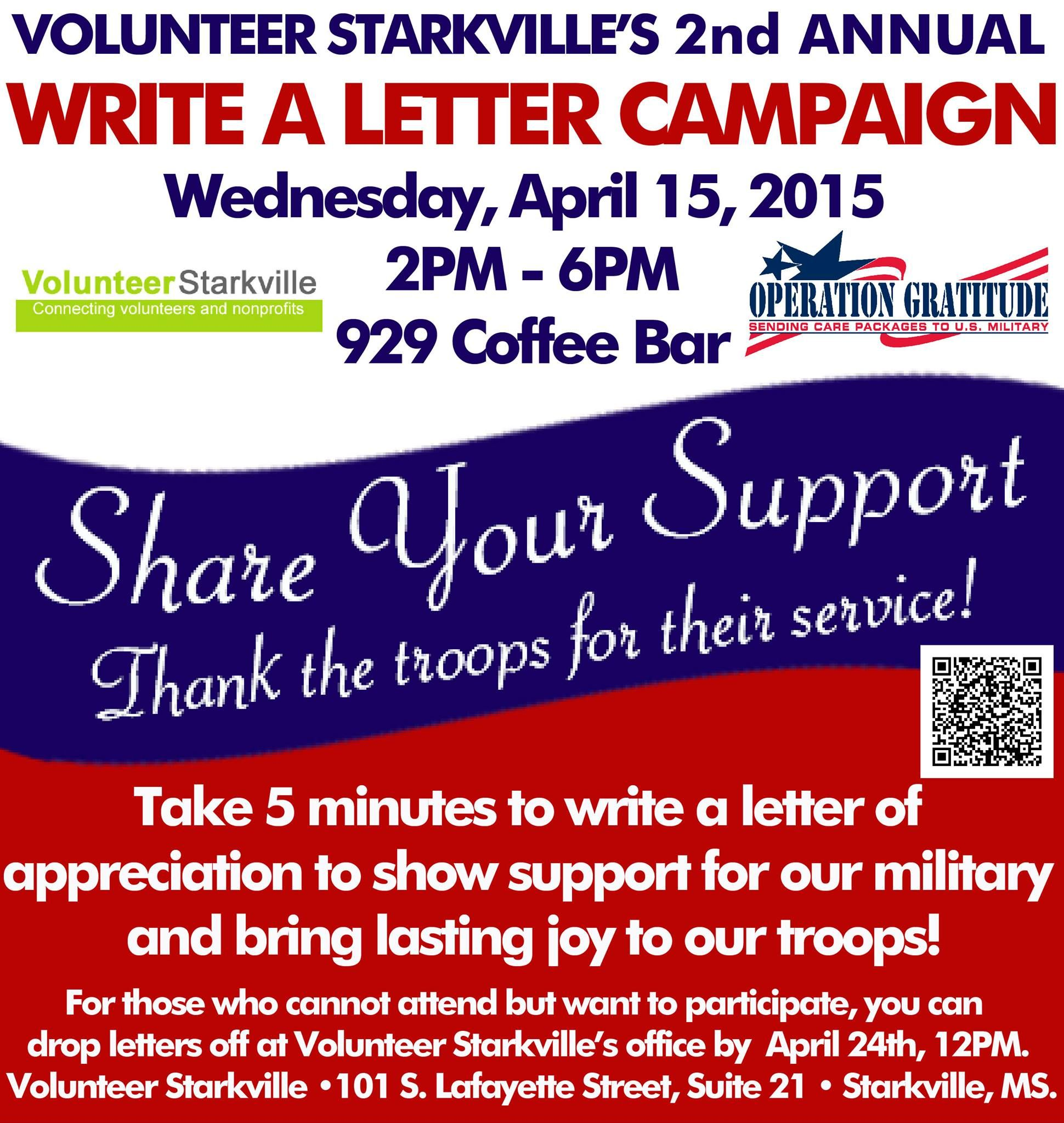 Volunteer StarkvilleS Nd Annual Write A Letter Campaign To