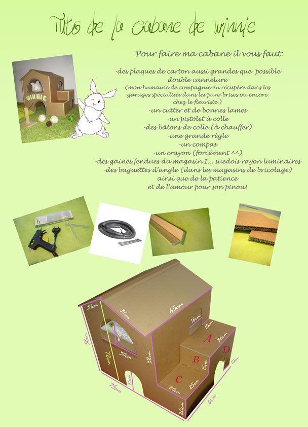 fabriquer une cabane en carton pour lapin. Black Bedroom Furniture Sets. Home Design Ideas