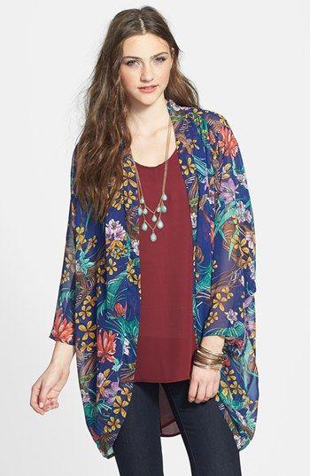 $48, Navy Floral Kimono: Hot | Coachella Fashion | Pinterest ...