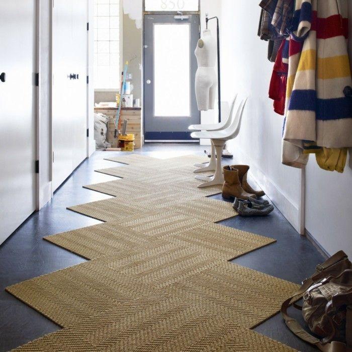 diele gestalten einen zick zack teppich und zwei st hle entr e et couloir pinterest zick. Black Bedroom Furniture Sets. Home Design Ideas