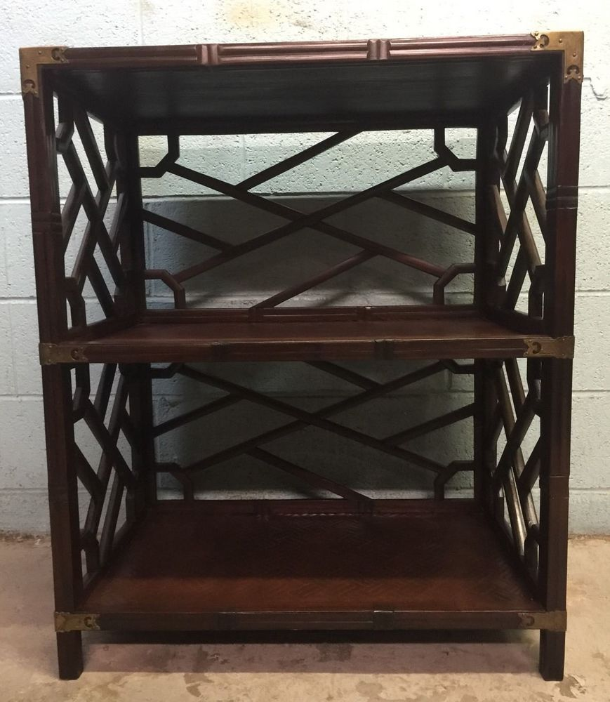 Vintage Henredon Asian style Bookcase Etagere Stand Mid Century