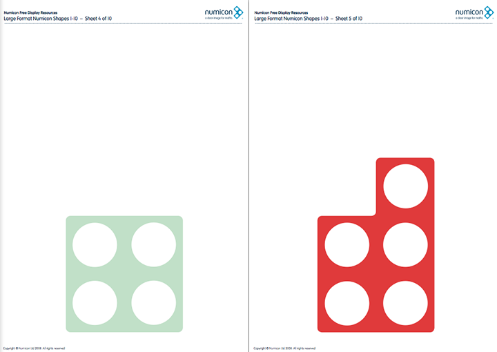 Here\'s a large set of printable Numicon shapes. | Math. Ten Frame ...