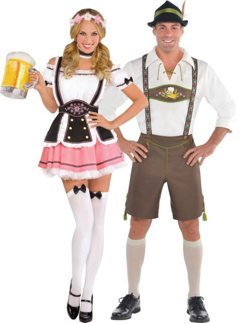 Bavarian Couples Costumes Oktobermiss Beer Maid ($49.99) u0026 Male Costume - Party City Red Jester Couples Costumes Jesterina u0026 Krazed Jester Costume - Party ...  sc 1 st  Pinterest & Bavarian Couples Costumes: Oktobermiss Beer Maid ($49.99) u0026 Male ...