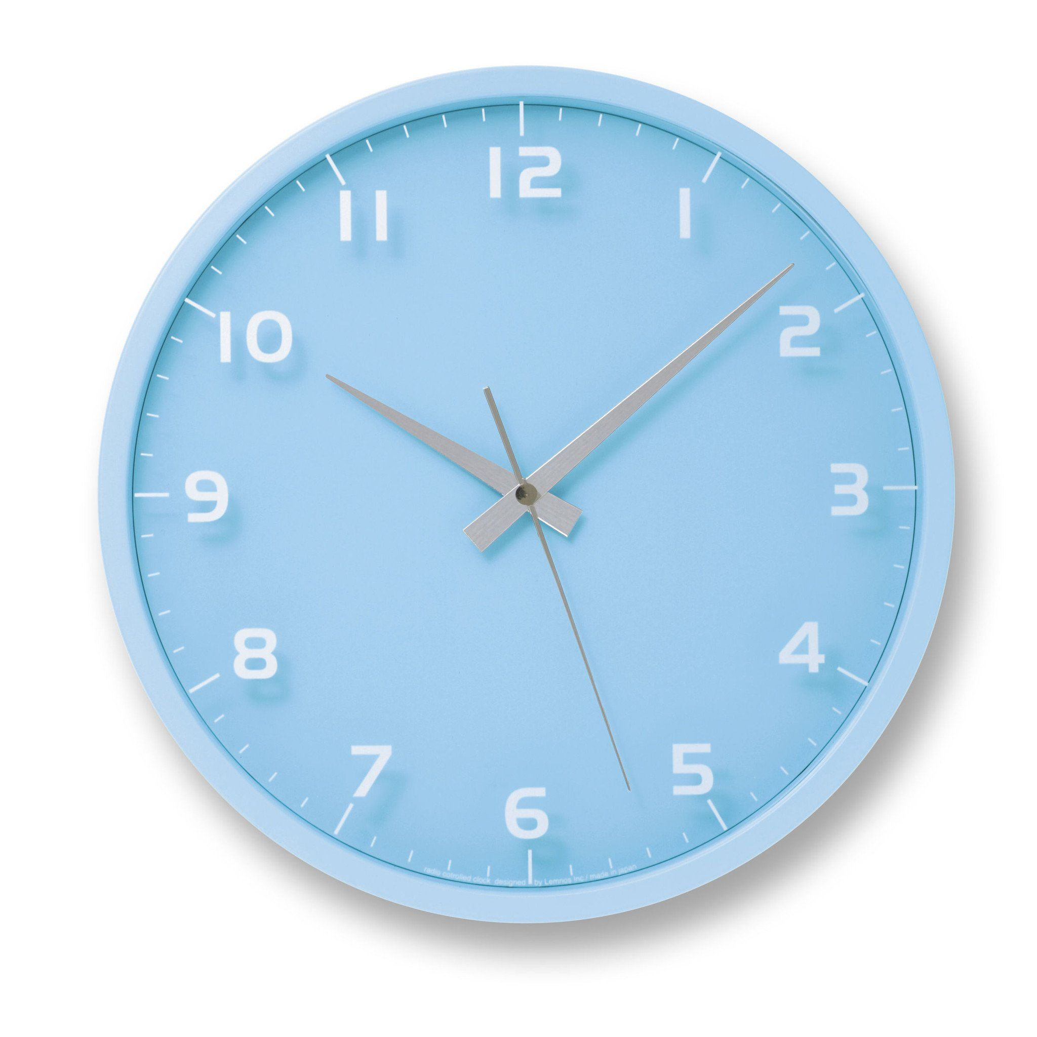 Nine wall clock in light blue design by lemnos blue design wall nine wall clock in light blue design by lemnos amipublicfo Images