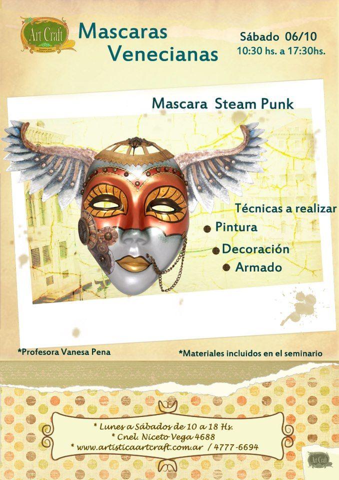 Se realizara una mascara veneciana mascara steam punk - Mascaras venecianas decoracion ...
