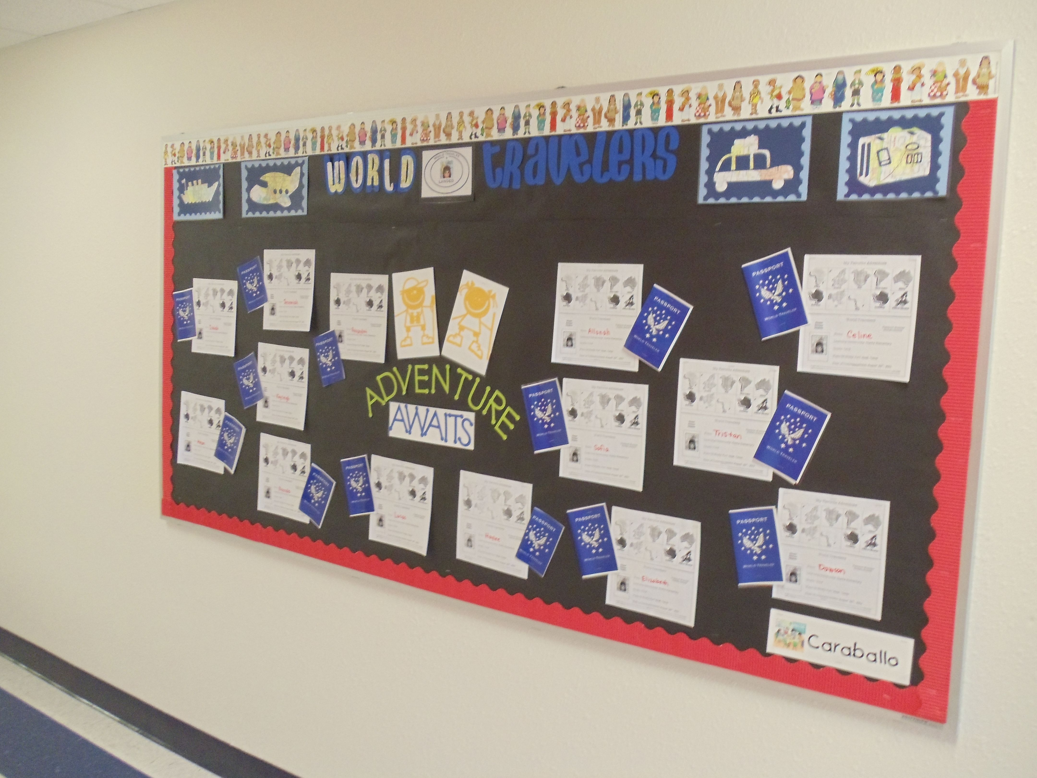 Classroom Decor Travel : Travel theme open house bulletin board the students had