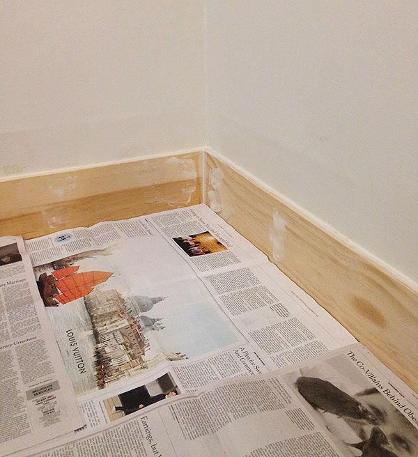 Baseboards Using 1x6 Pine Moldings And Trim Narrow Hallway Decorating Baseboards